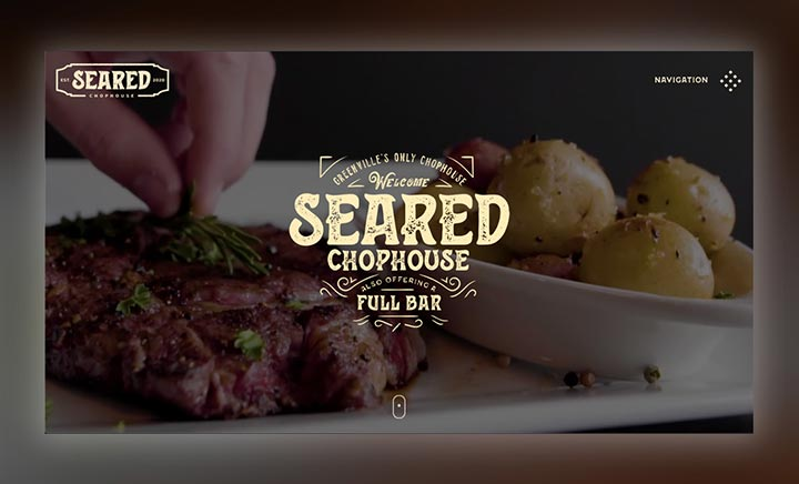 Seared Chophouse website