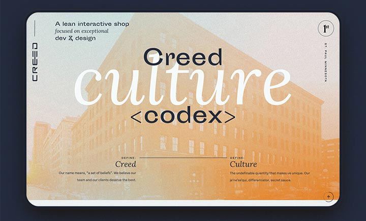 Creed Culture Codex website