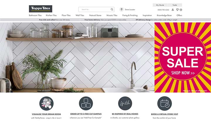 Topps Tiles  website