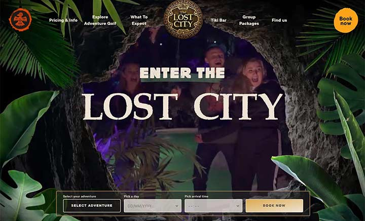 Lost City Golf website