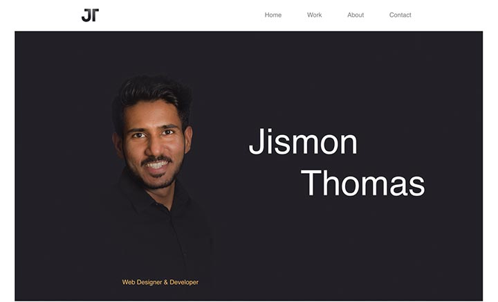 Jismon Thomas - Portfolio website