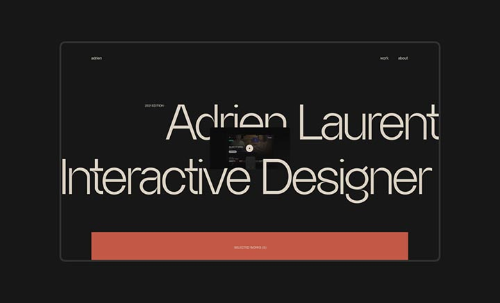 Adrien Laurent - Portfolio website