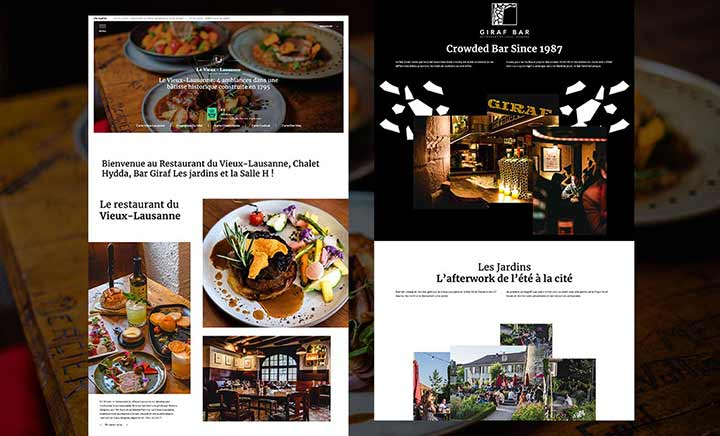 Le Vieux Lausanne Restaurant website