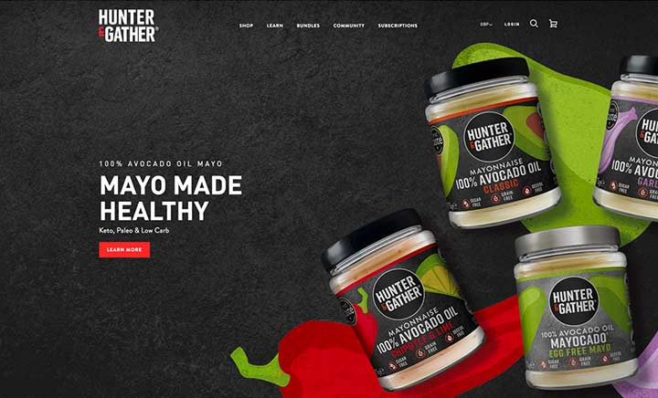 Hunter & Gather website