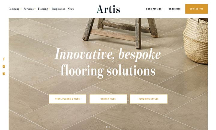 Artis Flooring  website