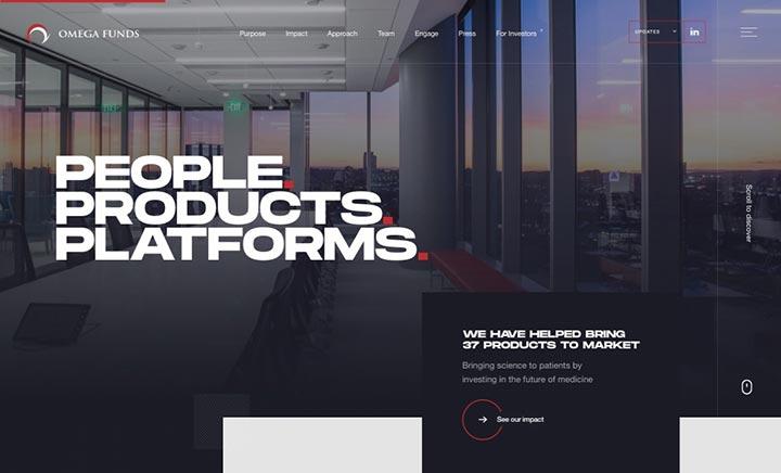 Omega Funds website