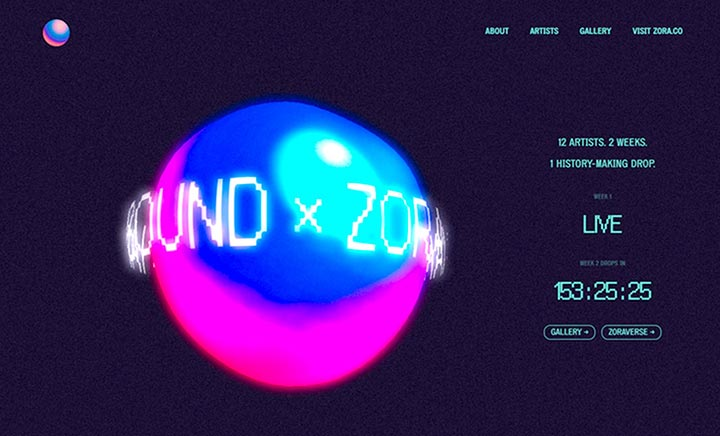 IAMSOUND x Zora website