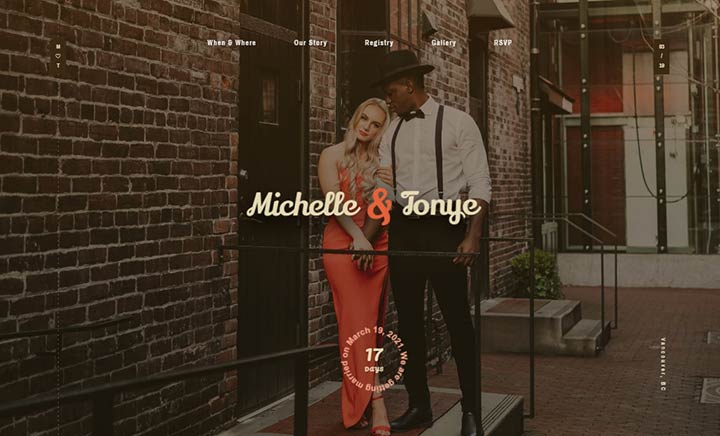 Michelle & Tonye - Wedding Day website