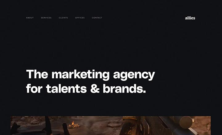 Allies Marketing website