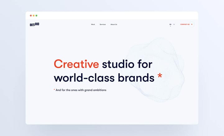 Outloud - Creative Studio website