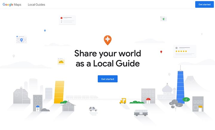 Local Guides website