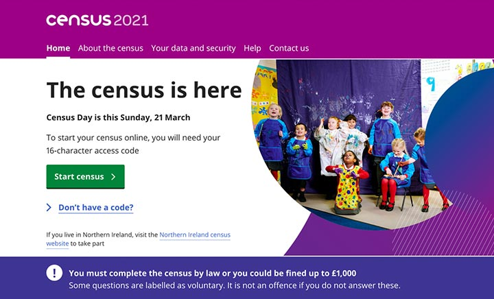 Census 2021 website