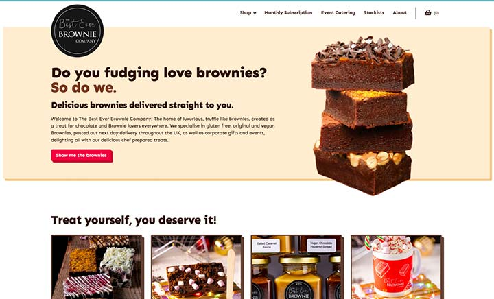 The Best Ever Brownie Company website