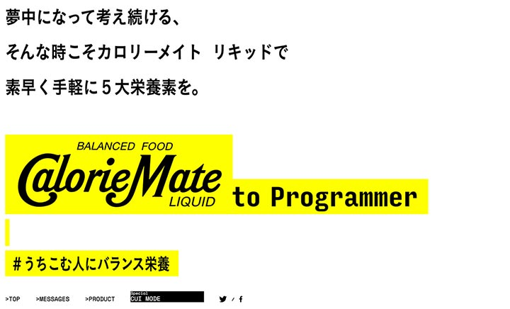 CalorieMate to Programmer website