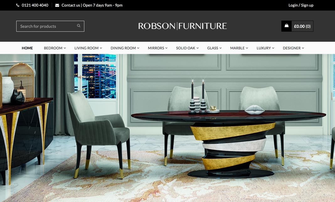 Robson Furniture website