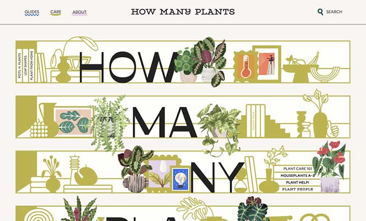 How Many Plants website