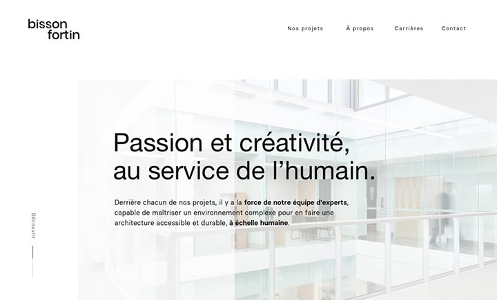 Bisson Fortin website