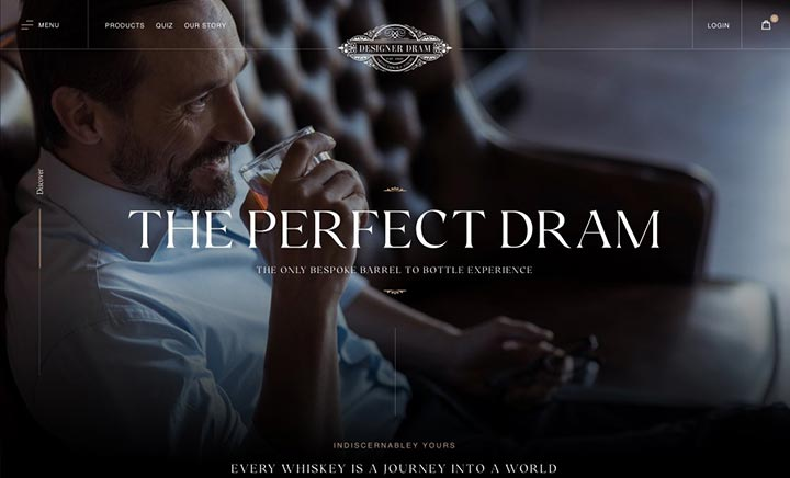 Designer Dram website