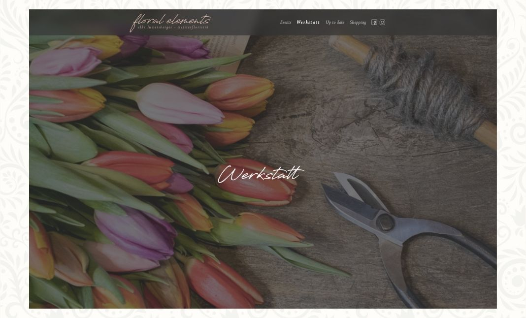 Floral Elements website