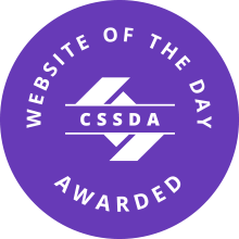 CSSDA WOTD Award Monogram purple